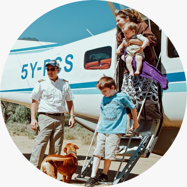 Passengers Disembark AIM AIR Caravan